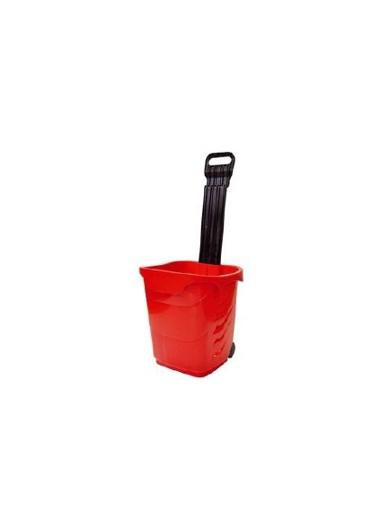 Voziček ročni, rdeč, nosilnost 25 kg