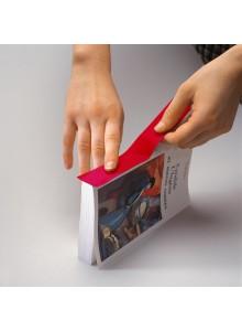 Tekstilni barvni trak na papirni podlagi - 30mm x 10m, rdeč