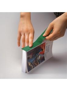 Tekstilni barvni trak na papirni podlagi - 30mm x 10m, zelen
