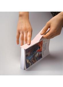 Tekstilni barvni trak na papirni podlagi - 30mm x 10m, bel