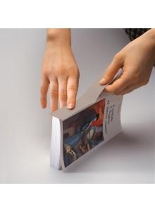 Tekstilni barvni trak na papirni podlagi - 30mm x 10m, siv
