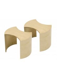 Puzzle, komplet miza + 4 stolčki