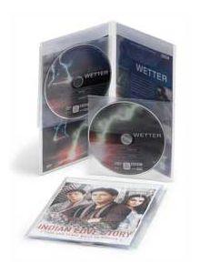 PVC vrečka za 2 DVD-ja