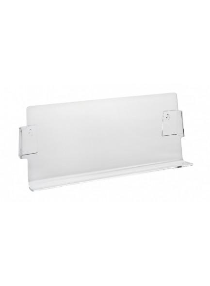 PVC polička, srednja, prozorna