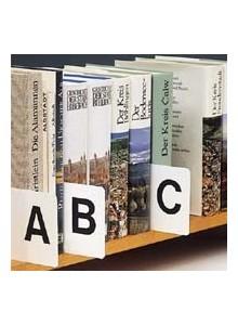 PVC trakovi za abecedo, beli - brez tiska
